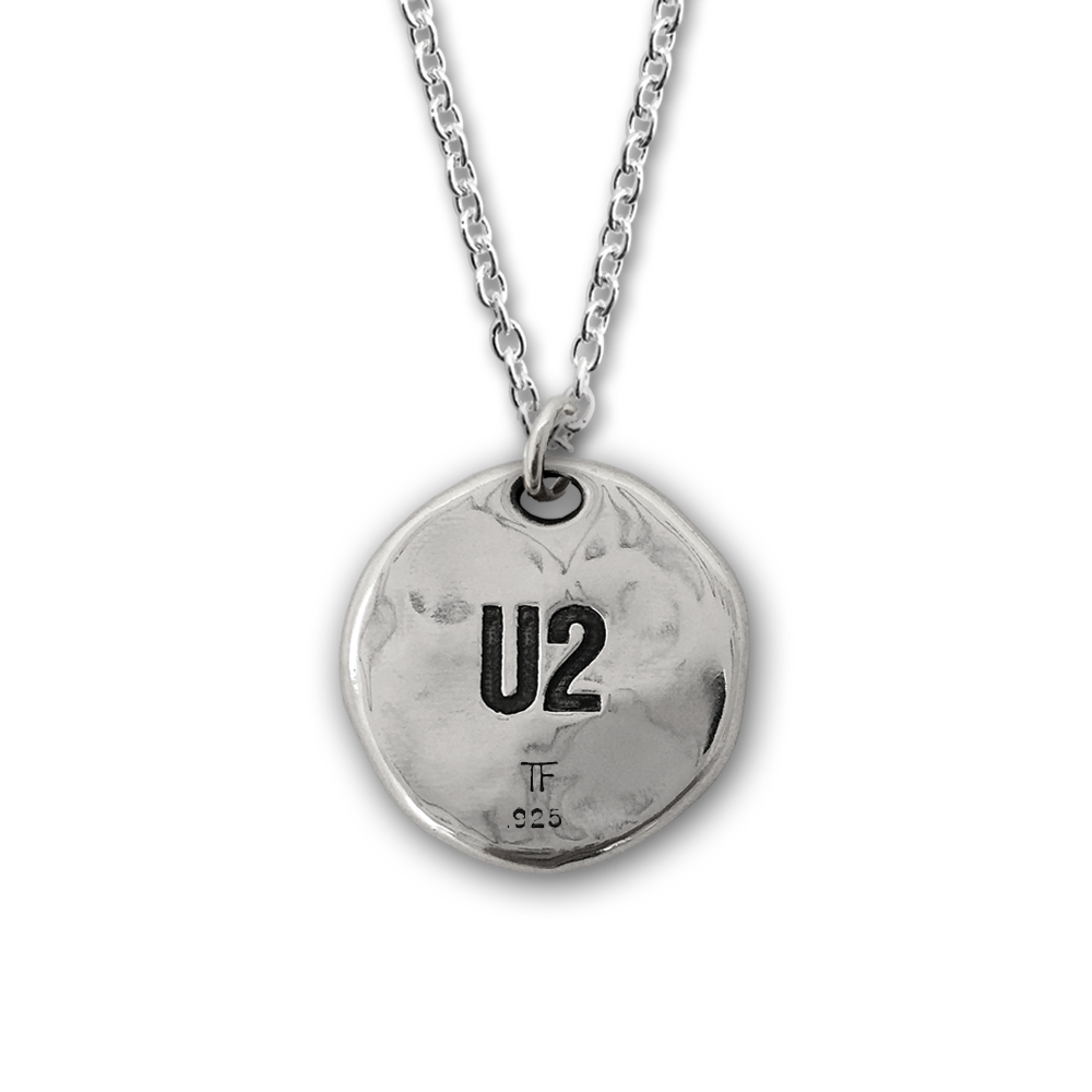 U2- The Joshua Tree- Round Pendant- Sterling Silver- by Pennyroyal Jewelry