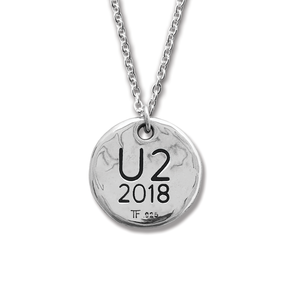 U2- Songs of Experience- Sterling Silver Necklace- by Pennyroyal Jewelry