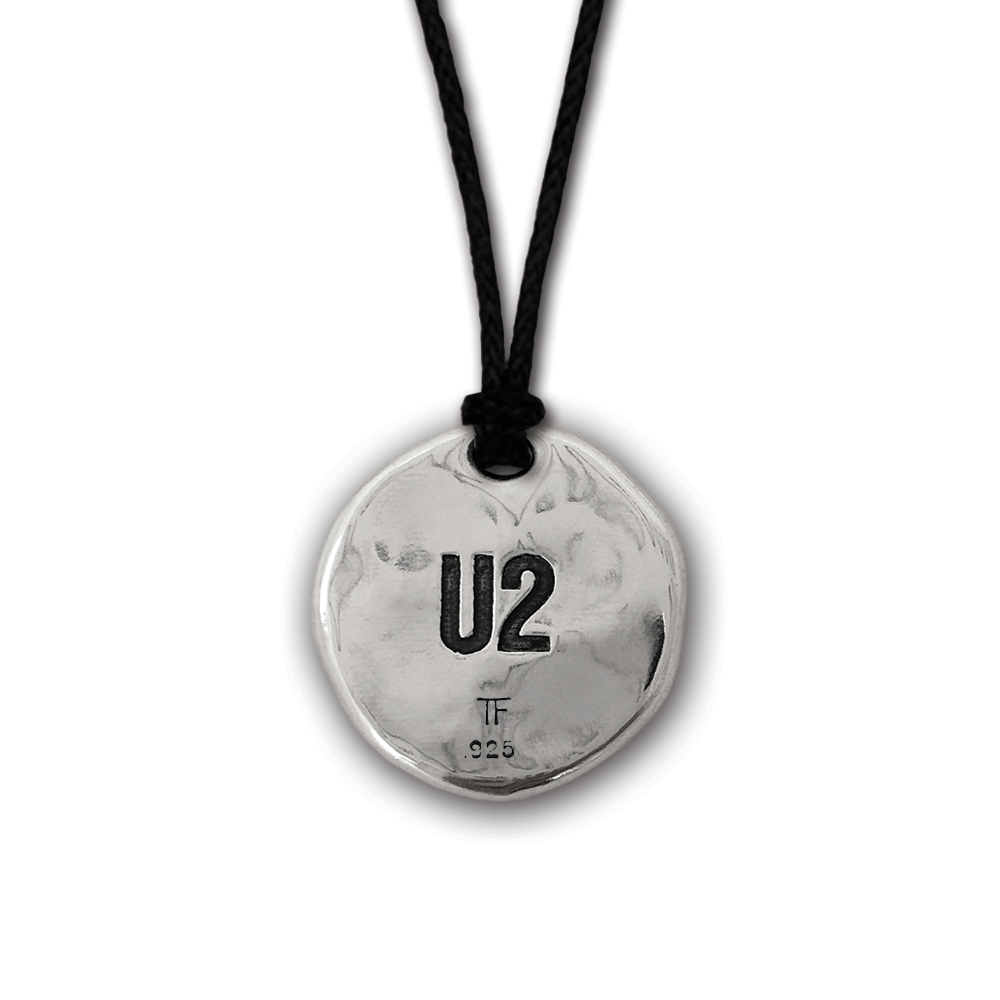 U2- The Joshua Tree- Round Pendant- Sterling Silver On Adjustable Cord- By Pennyroyal Jewelry