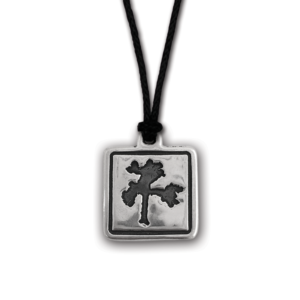U2- The Joshua Tree- Square Pendant- Sterling Silver On Adjustable Cord- By Pennyroyal Jewelry