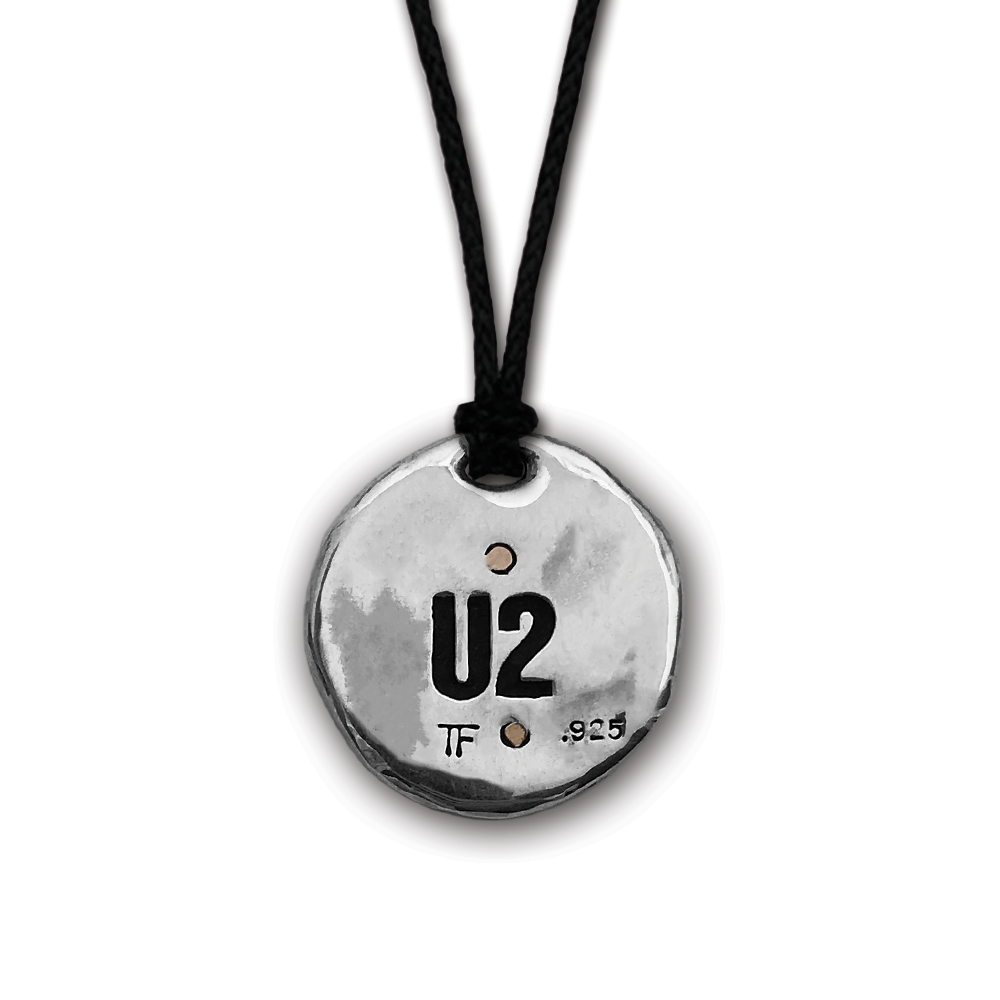 U2- The Joshua Tree- Round Silver/Bronze Pendant- by Pennyroyal Jewelry