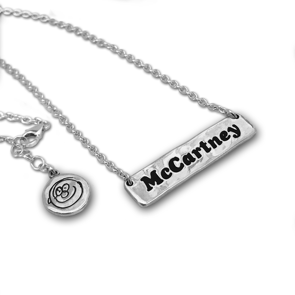 Paul McCartney- 'McCartney' Bar Necklace- Sterling Silver- By Pennyroyal Jewelry