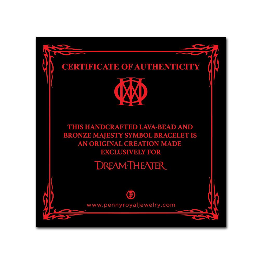 Dream Theater- Majesty Logo Bracelet- Lava & Bronze- by Pennyroyal Jewelry