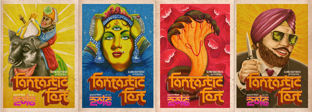 The Poster on the far right reminds us of the Tunak Tunak Tun guy, which is great. Aaaaaand now you can't get it out of your head. #yourewelcome (Artwork by Chris Billheimer)