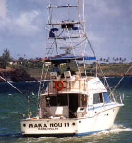 Hawaii fishing charter island of Kauai