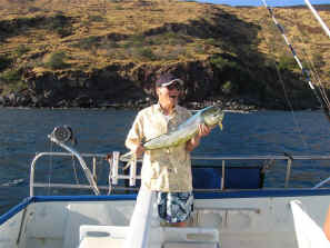 Near shore fishing off Maui