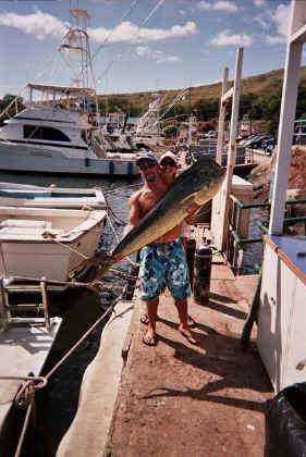 Big Mahi caught on Maui, Hawaii