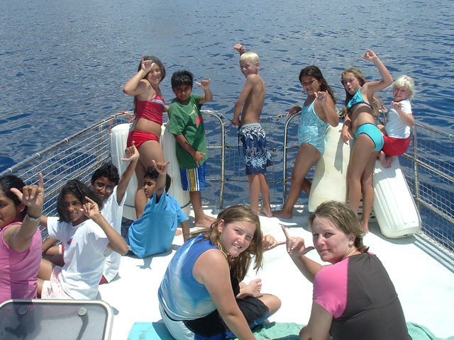 Private boat party on Maui, Hawaii