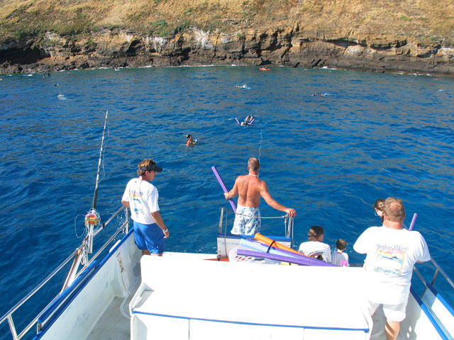 Snorkeling off Molokini, Hawaii