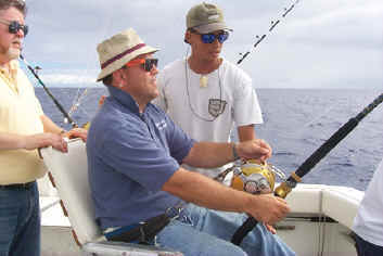 Hawaii fishing charter boat Magic chair