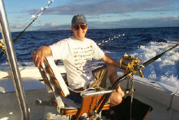 Hawaii fishing charter Magic cockpit