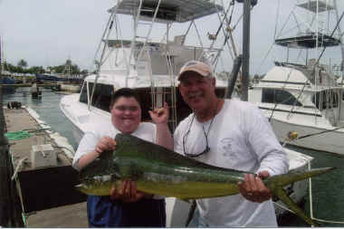 Make a Wish fishing trip mahimahi catch