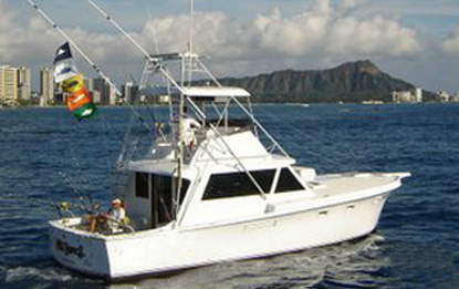 Hawaii fishing charter boat Play N Hooky