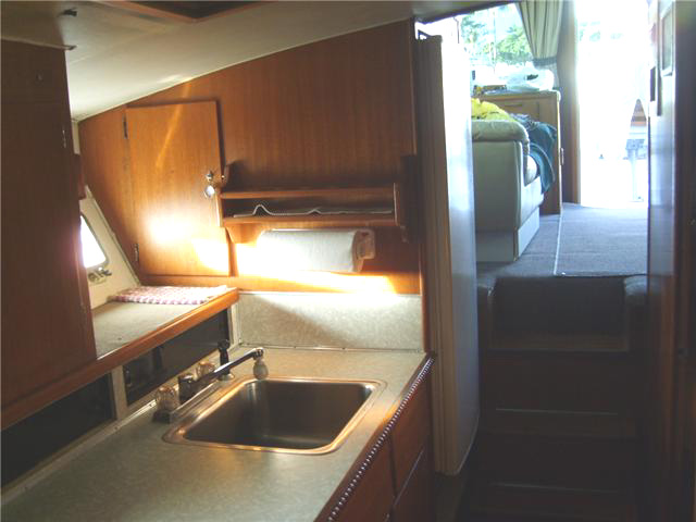 Oahu fishing charter boat galley