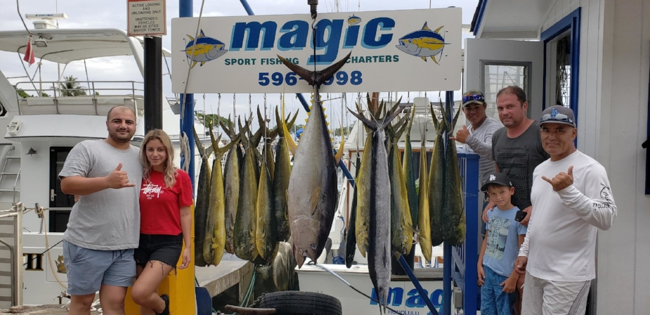 Magic with a nice haul of Mahimahi!