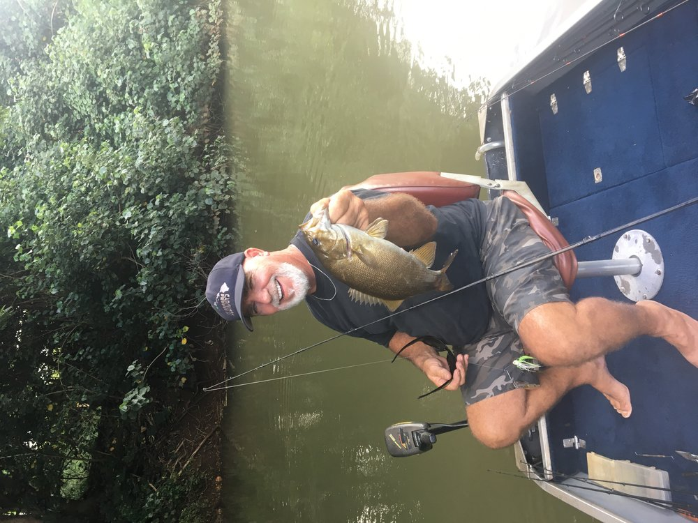 Guide Tom with a nice bass catch!