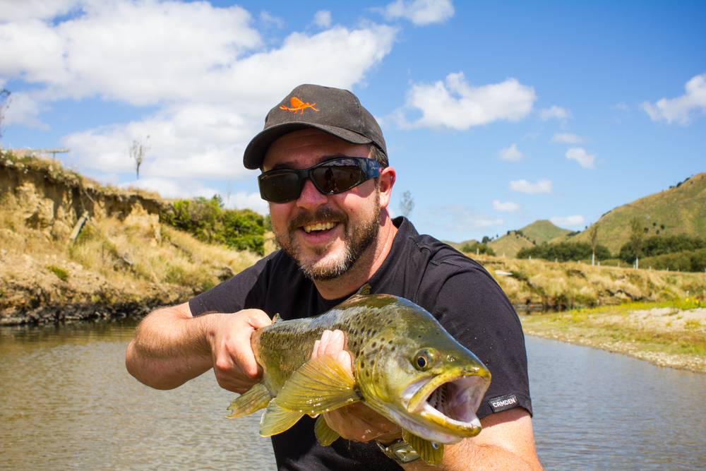 Marcus with a beautiful North Island New Zealand brownie.