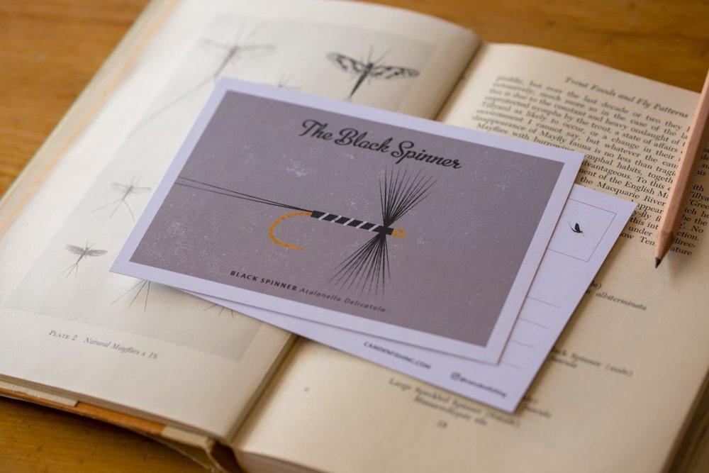 Black Spinner postcard