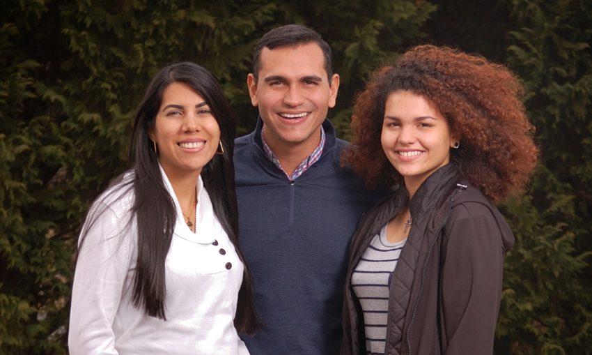 Pastor Cruz Paniagua and family