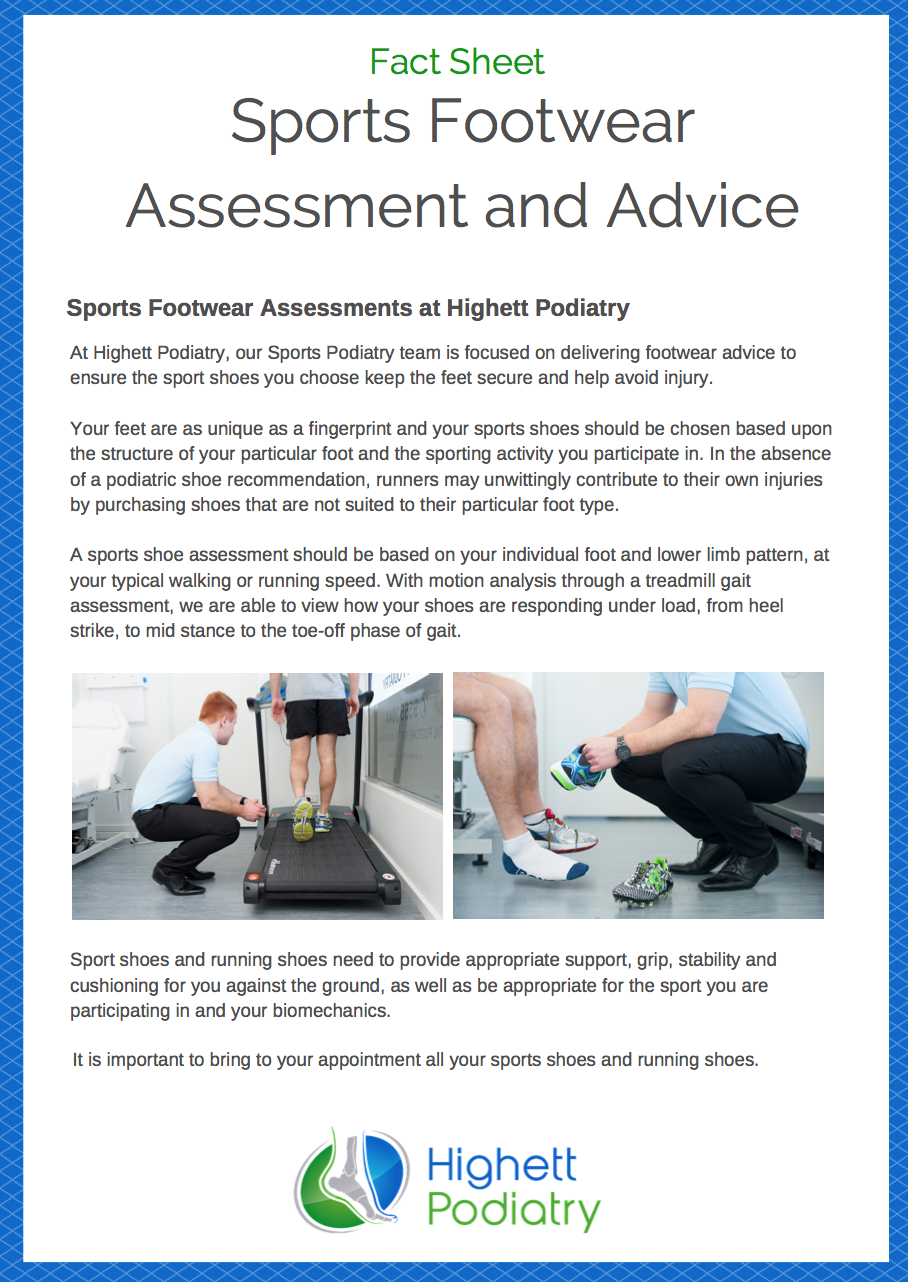 Sports Footwear Assessments and Advice