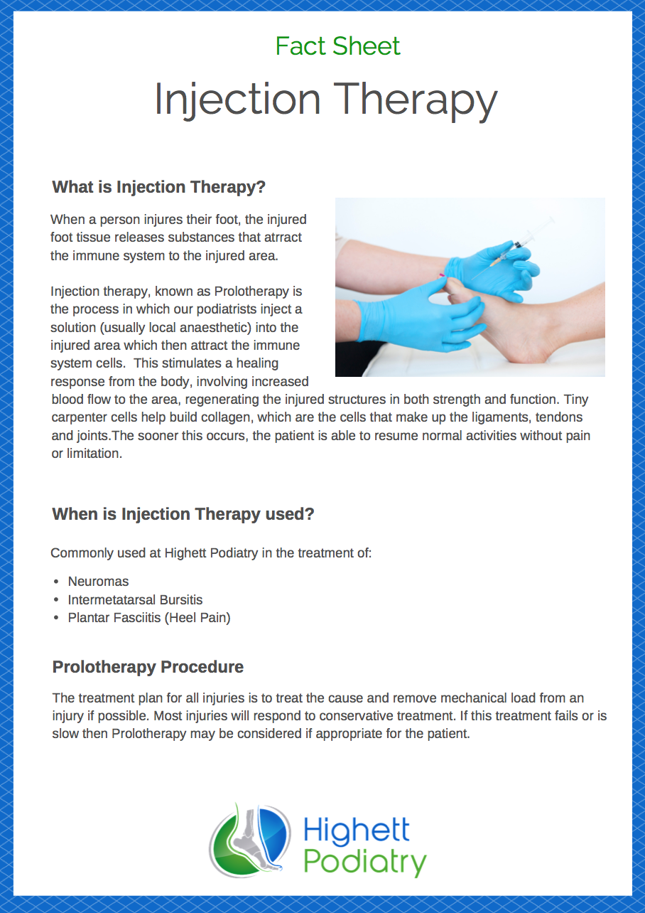 Injection Therapy