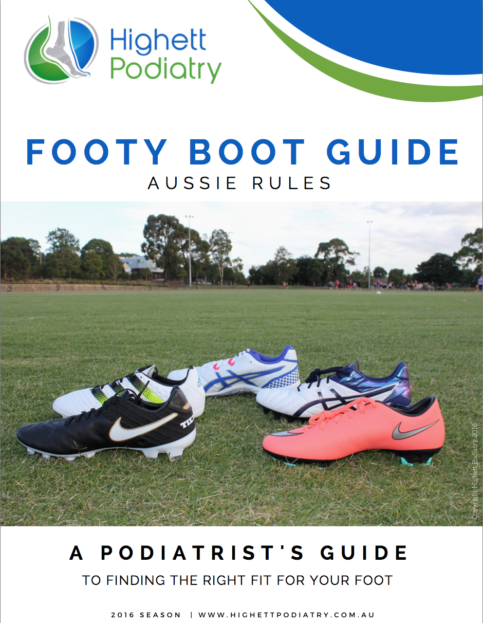 Aussie Rules Footy Boot Guide Highett Podiatry