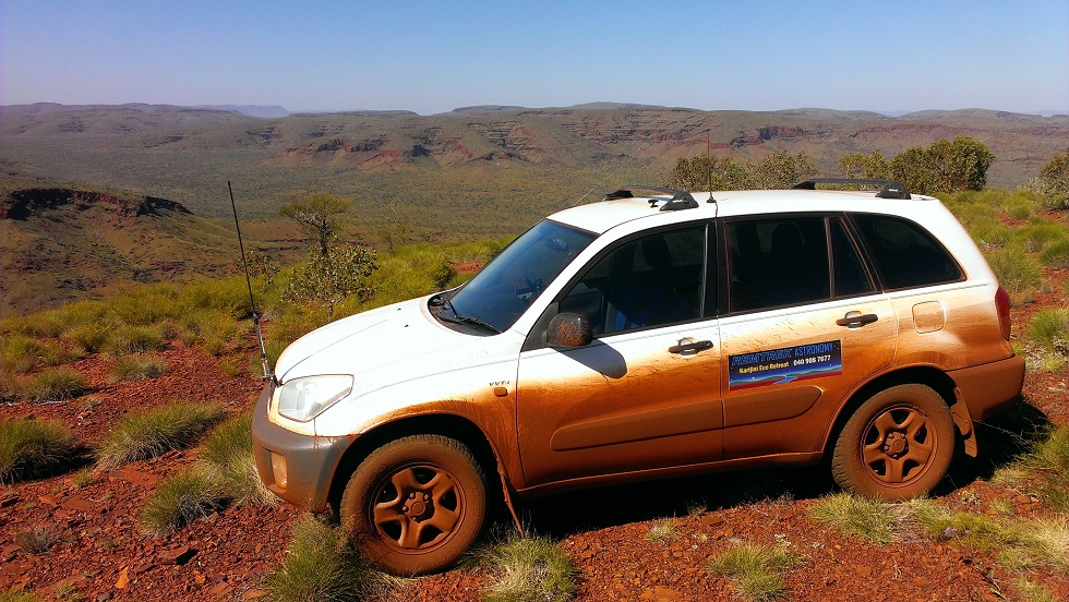 Spectacular Pilbara landscapes and you should've seen the dirt track up!