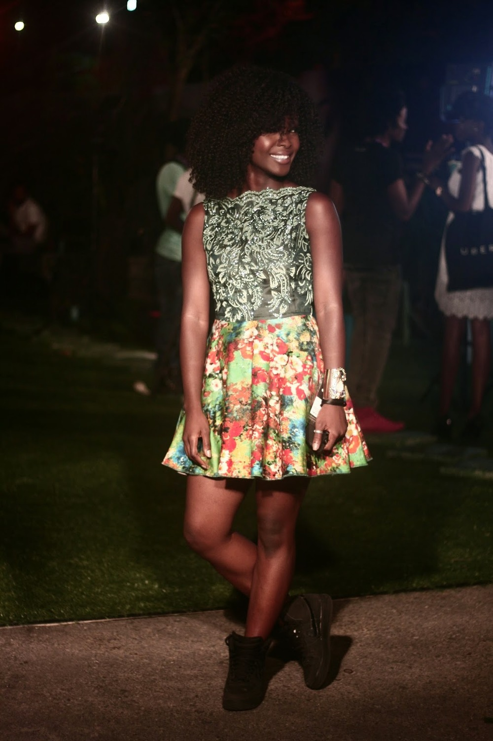 Running around behind the Scenes for  Ndani Tv at GTBLFDW2014 dressed in  Ayo Van Elmar   with Make-up by Lois Isen for  Pro Spotted Make Over   This is one of my favourite Photos of day 1 taken by  Afam