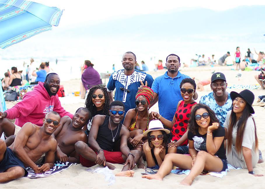 Back row L-R: Ejiro Onobrakpor, Ayodele Banjo, Tony Mba and Jude Idada  Front row L-R: Gideon Okeke, Tokunbo Sangodoyin, Chioma Onyenwe, Seun Ajayi, Folu Ogunkeye(me), Adesua Etomi, Kemi Lala Akindoju, Linda Ejiofor, and Lilian Esoro