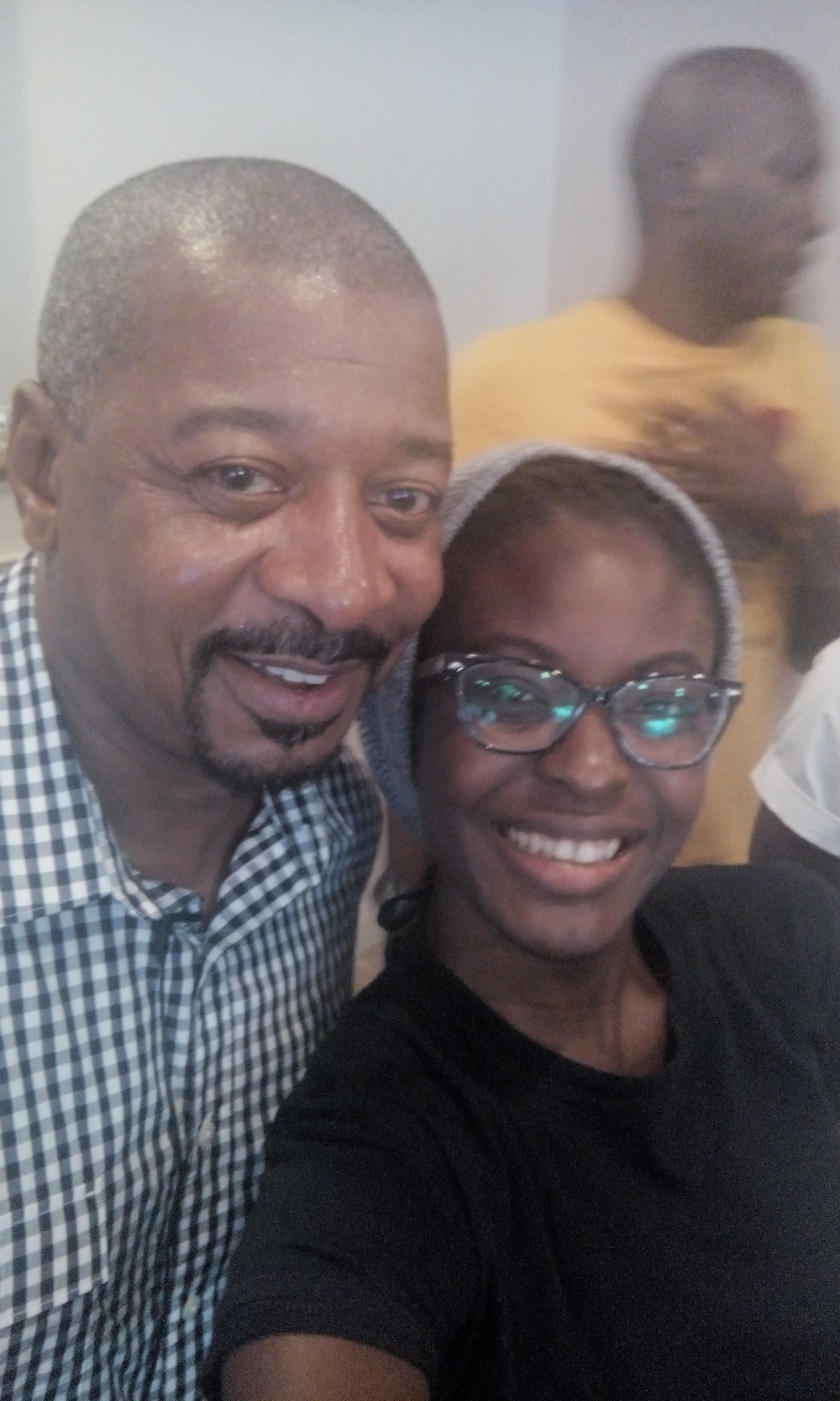 THE Robert Townsend and I. I'm not even going to tell you who he is, google it and help your life. Ok he's a multi-award winning producer, actor and all around amazing human being. I'm adopting him as my second Dad.