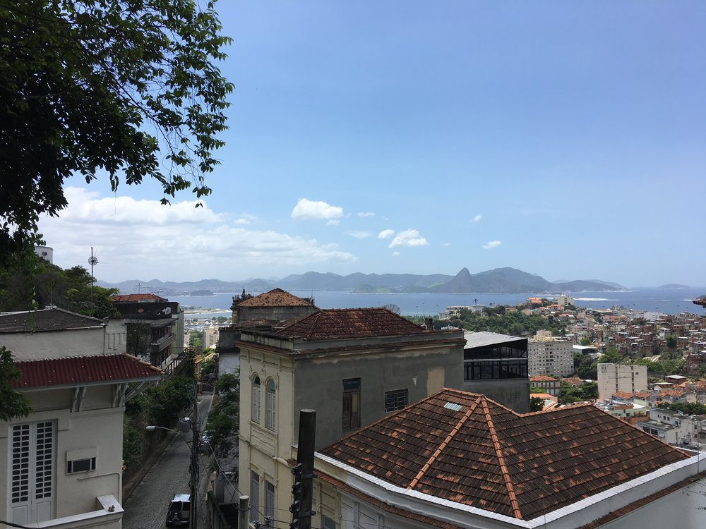 The view from Rua Bernardino street, Santa Teresa, Rio de Janeiro.