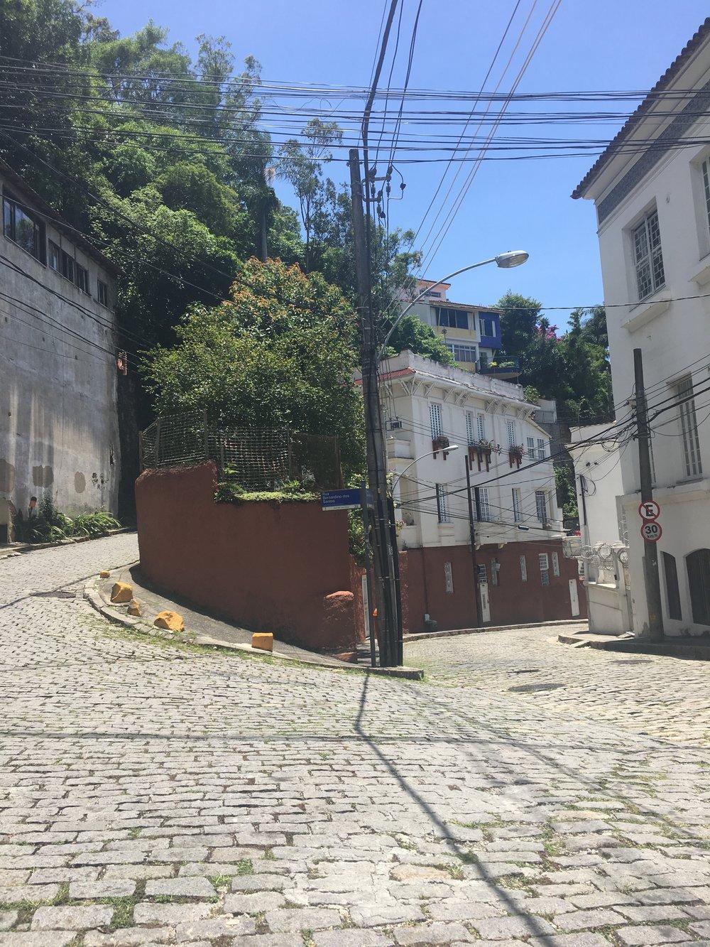 The Co.rner of Rua San Bernardino dos Santos, Santa Teresa. Rio De Janeiro