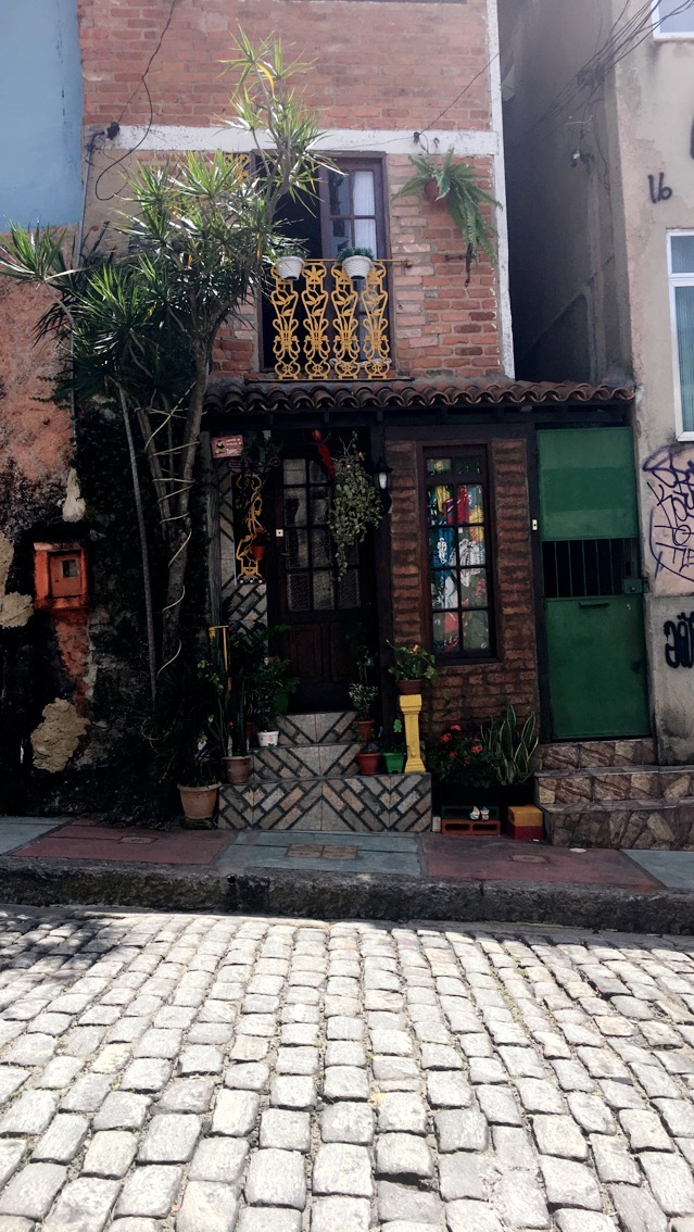 Doorway of one of the many interesting little stores in Santa Teresa, Rio de Janeiro. Brazil. circa November 2016.
