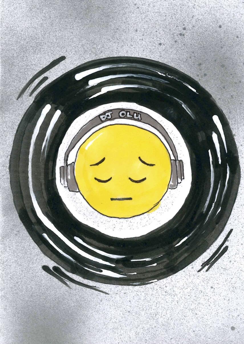 DJ Olu Emoji Art by @yasser_fw
