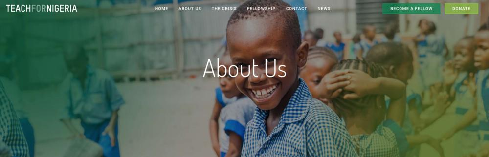 you'll find them on twitter: @teach4Nigeria and instagram @teachfornigeria