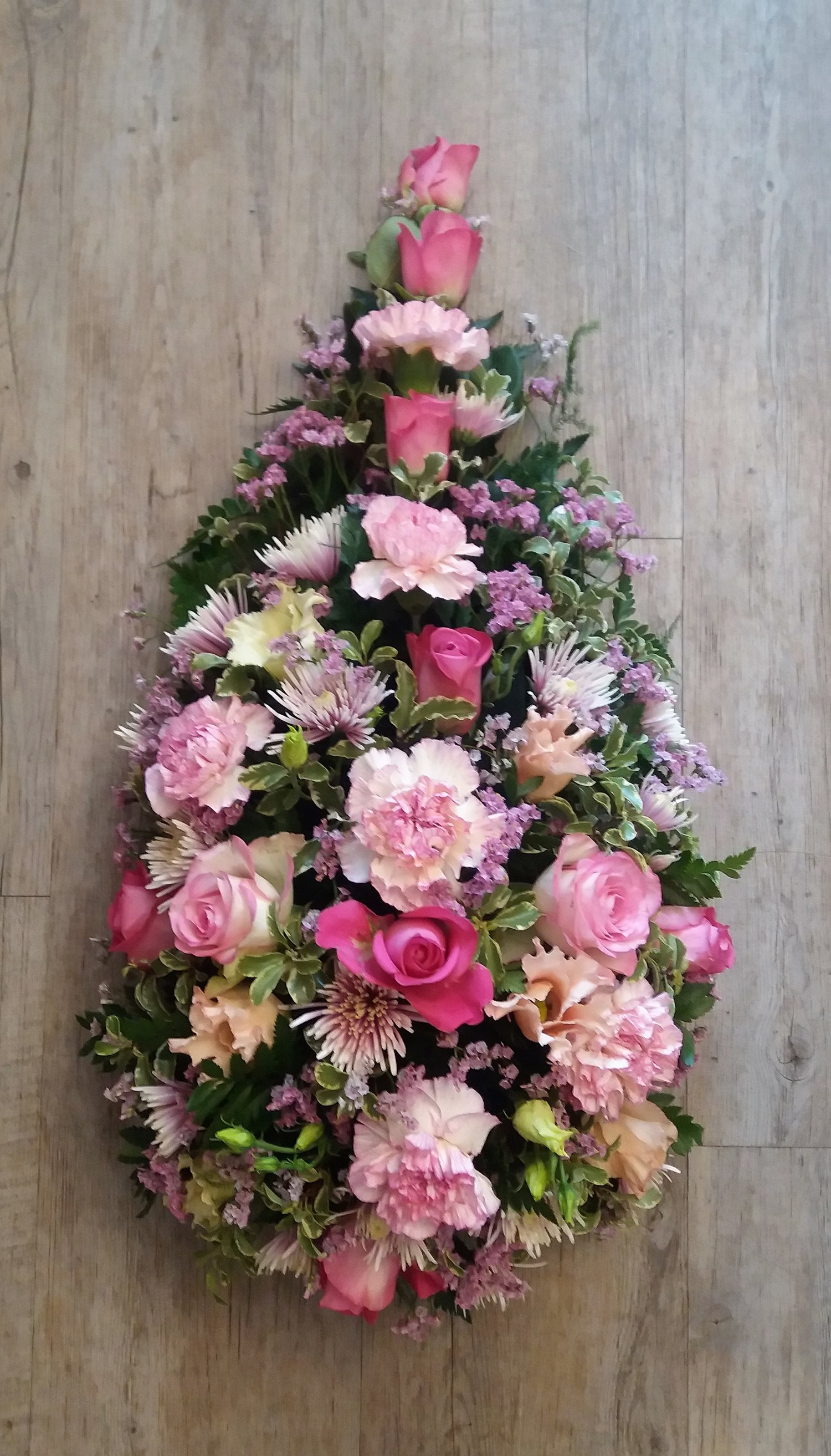 Pink White Single Ended Spray Lucas May Florist Gifts Knebworth