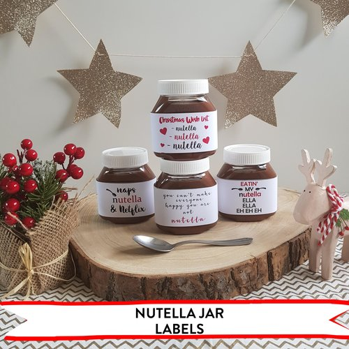 nutella jar labels hip hip hooray personalised keepsakes