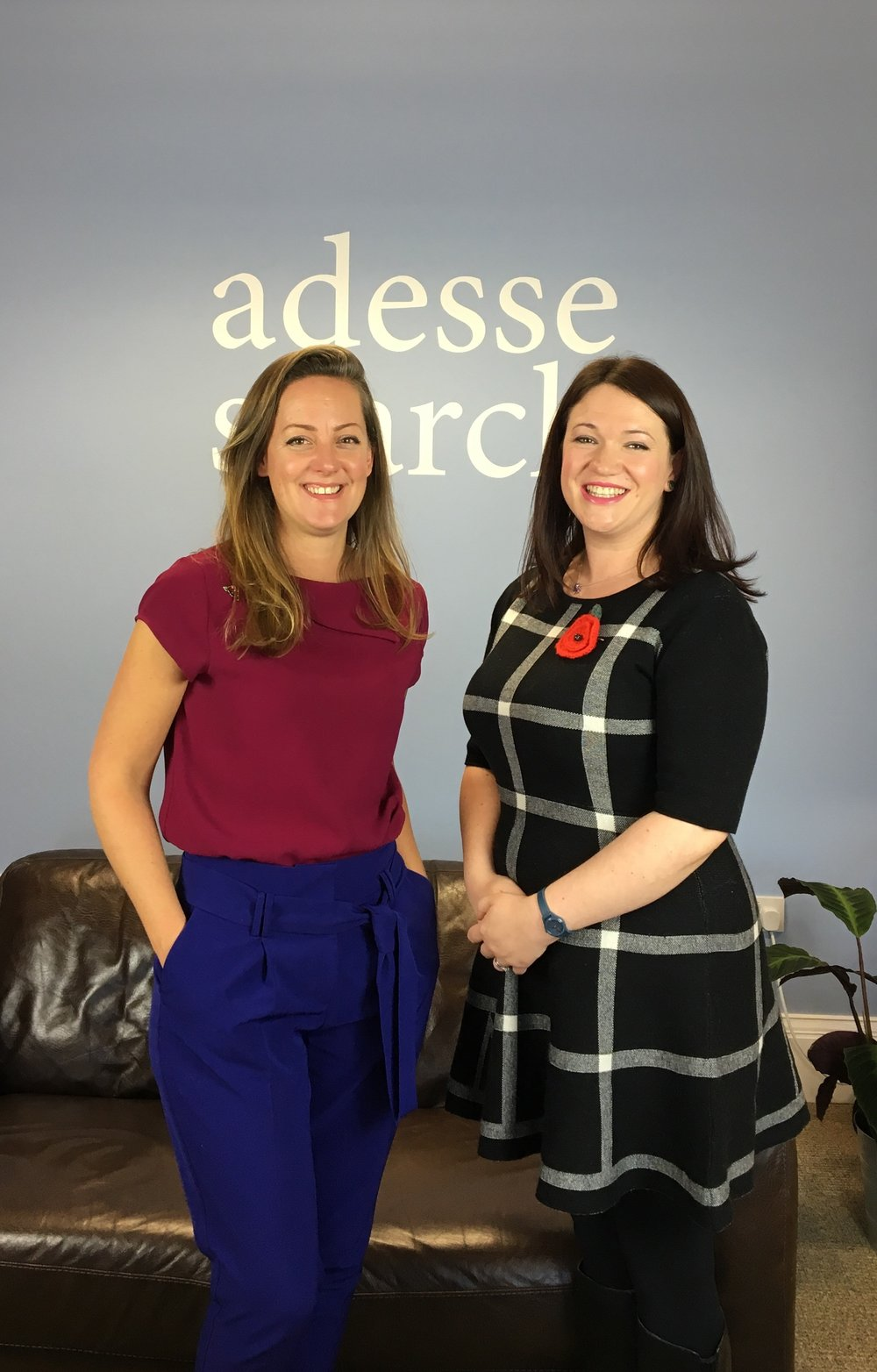 Co-Founder & CEO of Panintelligence Zandra Moore with Adesse's Director Claire Ackers