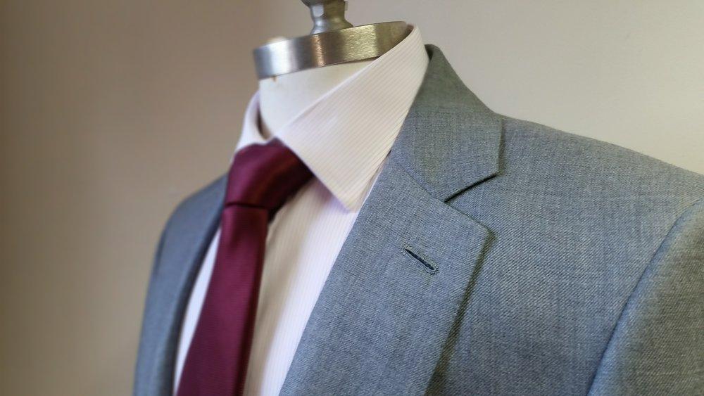 A Jacket with handmade lapel hole ready to go...