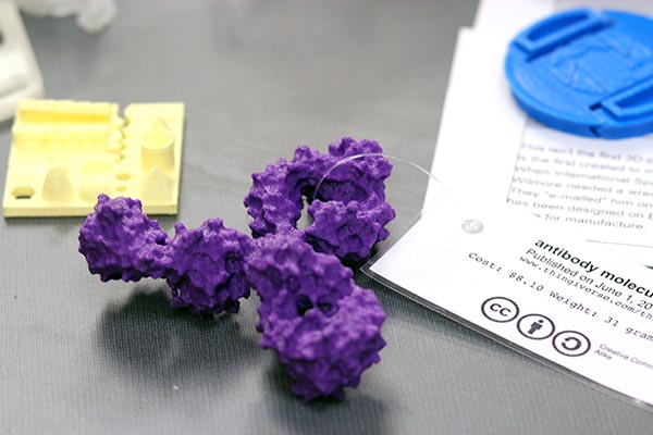 3D-print of an antibody Image source: Georgetown University Library