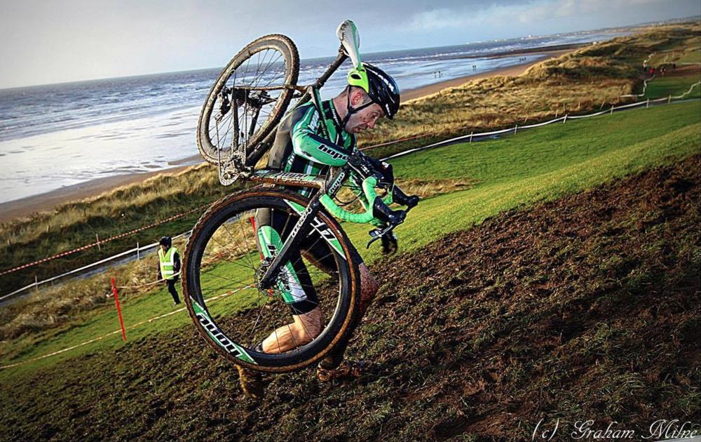 Gary at Irvine, Scottish CX Championships 2015. Photo: Graham Milne