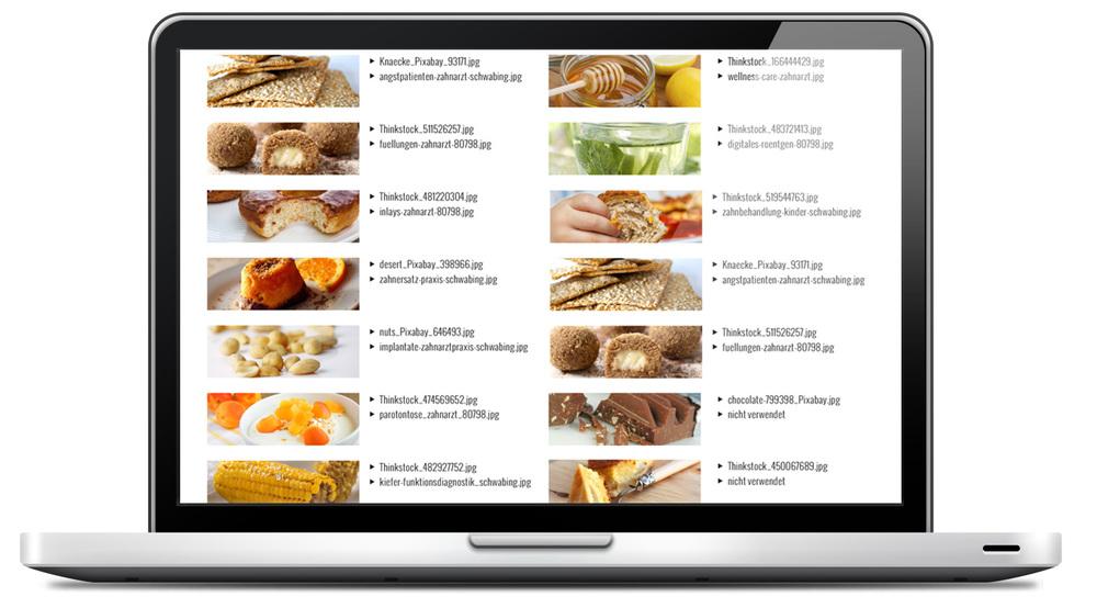 ergänzen Sie ihre Bilderliste um Thumbnail-Abbildungen. Dann erkennen sie auf einen Blick, welche Bilder Sie für Ihre Website oder Blogbeiträge einsetzen