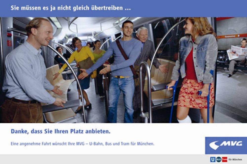 Übertrieben ist hier einzig und allein die Bildsprache. Quelle: www.mvg.de