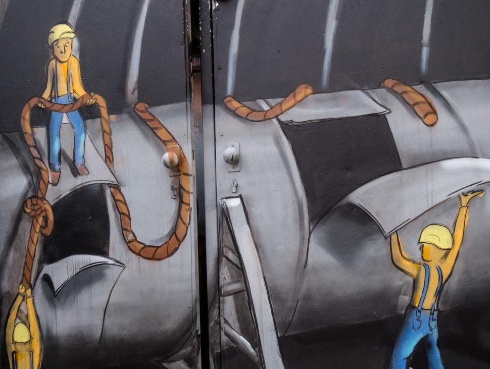 Comicstil - Fundstück im Münchner Werksviertel