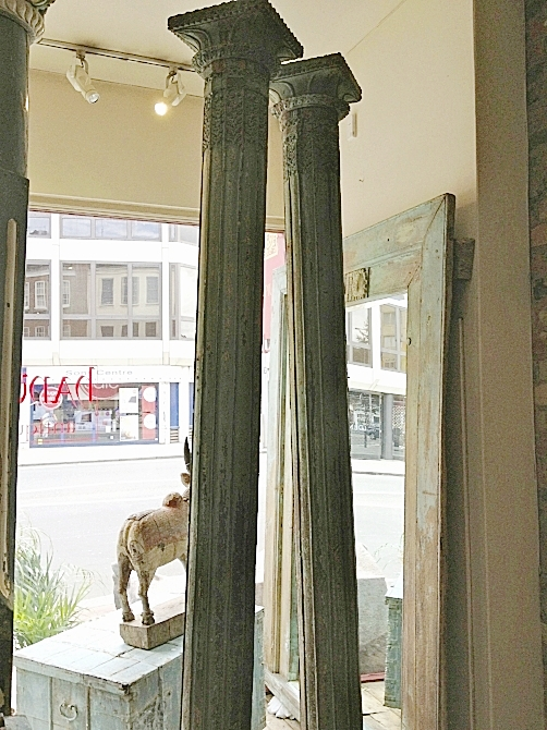 12. Find the perfect pair of antique Rajasthani columns