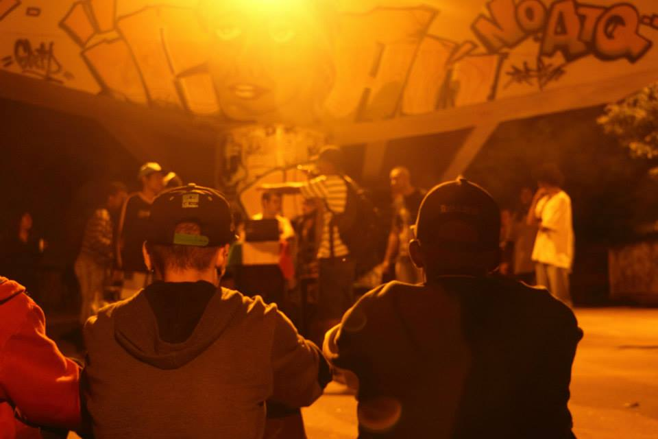 At a rap battle in under the Realengo Bridge. 2014.