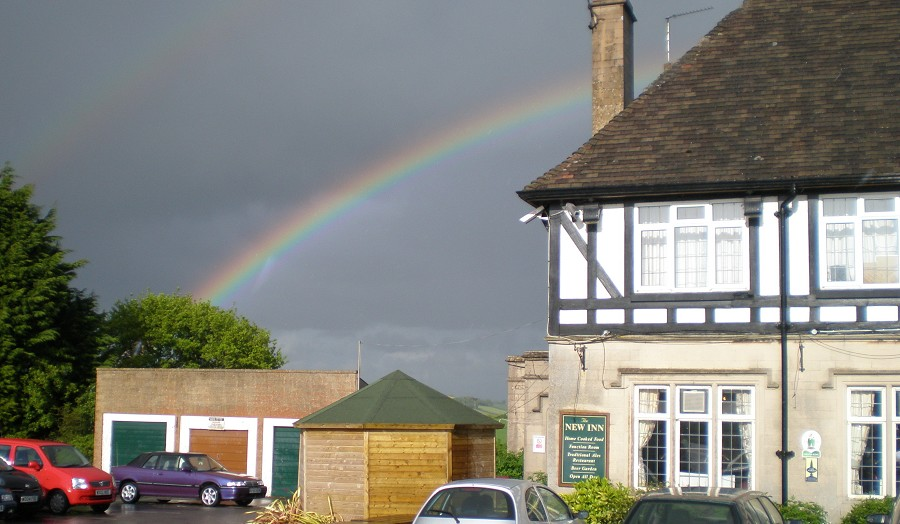 Rainbow over The New Inn