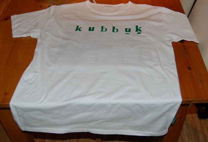 KubbUK T-shirt printing in operation.