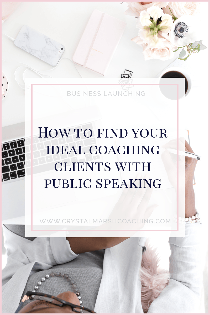 How to find your ideal coaching clients with public speaking