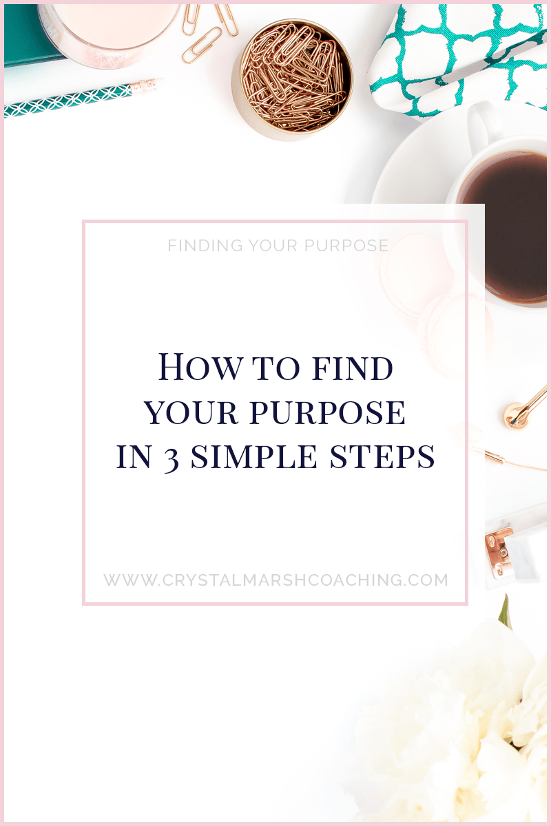How to find your purpose in 3 simple steps